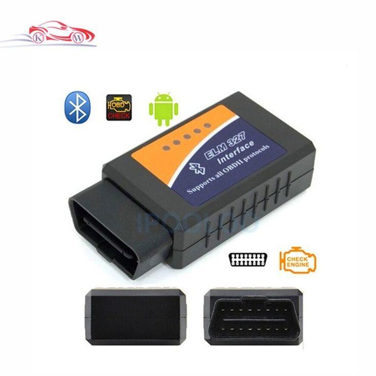 Hotsale V2.1 ELM 327 Bluetooth OBD II ODB2 רכב אבחון ממשק סורק עובד על אנדרואיד מומנט