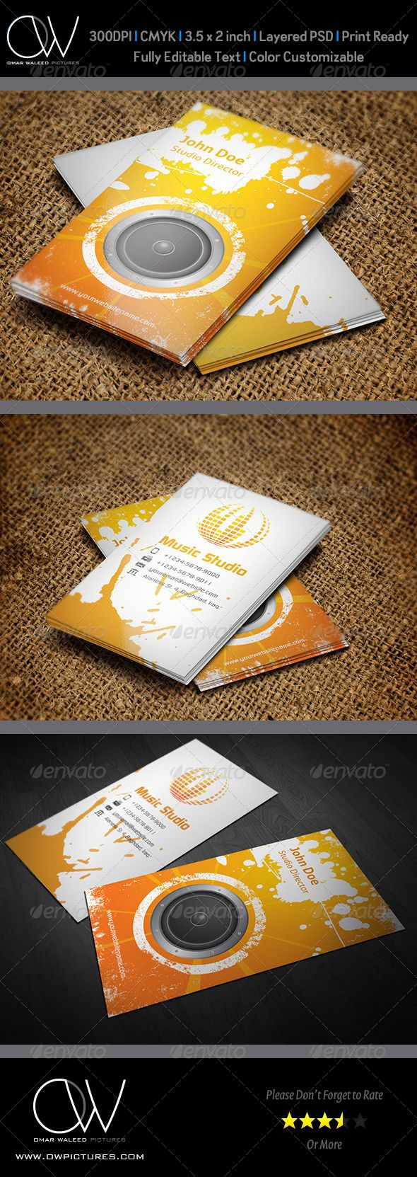 1469 best minimal business card design images on pinterest fonts music studio business card vol2 magicingreecefo Choice Image
