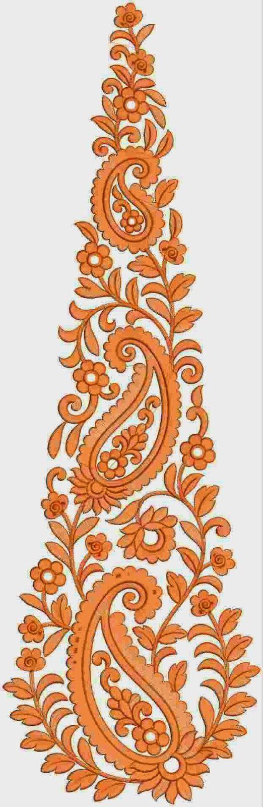 Oranje kleur Patch