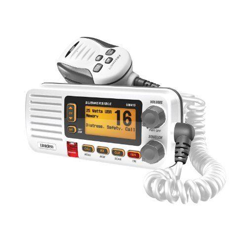 Uniden UM415 Full Featured VHF Marine Radio by Uniden. $114.91. Uniden UM415 Full Featured VHF Marine Radio
