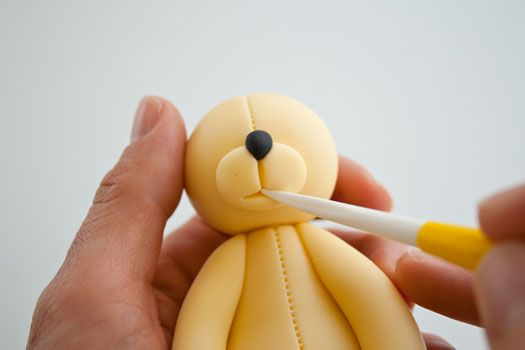 How to make a teddy bear cake topper part 2 • CakeJournal.com