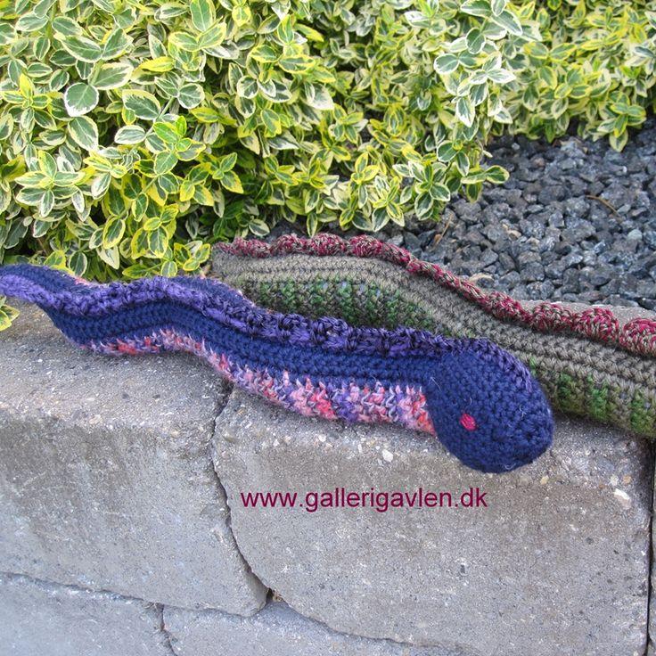 GRATIS opskrift hæklede slanger