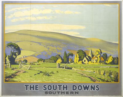 The South DownsSouthern Railway on VintageRailPosters.co.uk Prints