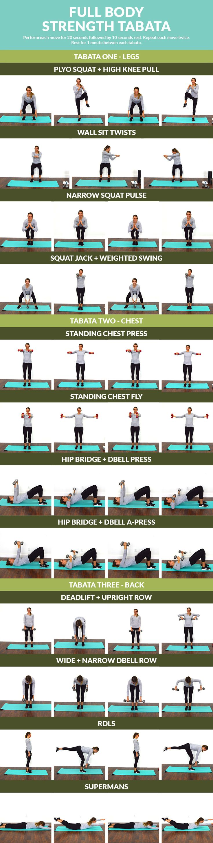 Full Body Strength Tabata - Tone your body with this 15-minute core muscles strength tabata.