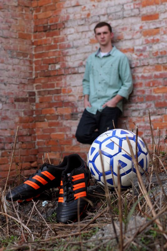 Senior Portrait for a soccer player Lori Alley Photography