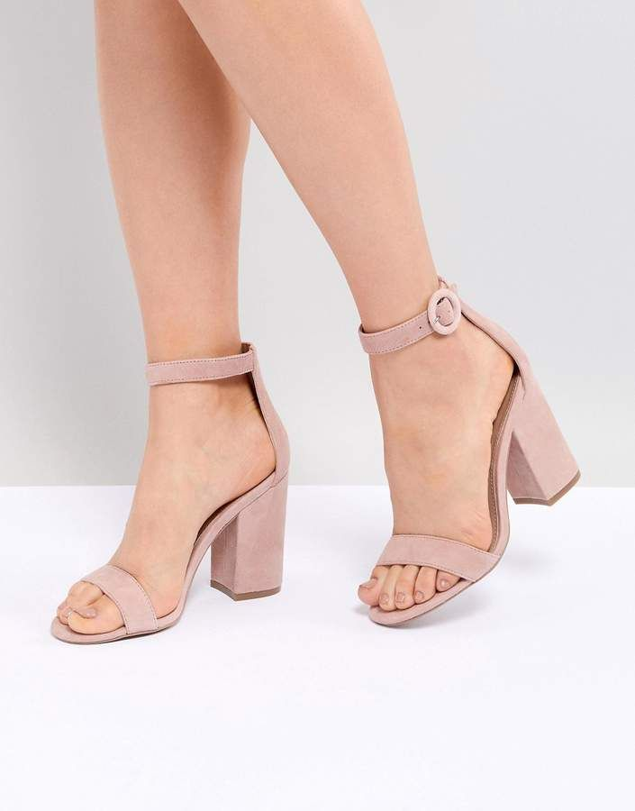 9e1b55ced37 Steve Madden Friday Suede Buckle Heeled Sandals - nude high heels ...