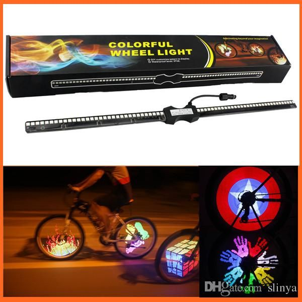 Wholesale cheap bicycle wheel light online, brand - Find best diy programmable bicycle bike wheel light 128 rgb led spokes light double side display 5050 led light monkey light at discount prices from Chinese bike lights supplier - slinya on DHgate.com.