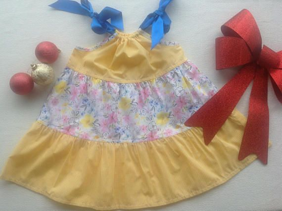 Girls size 2 cotton floral sun dress