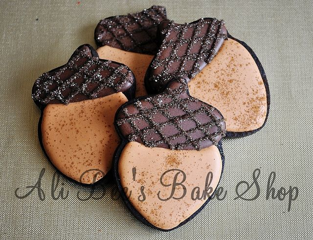 Decorated Acorn Cookies Repinned By: #TheCookieCutterCompany