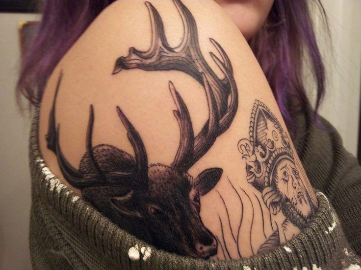 37 best elk tattoos images on pinterest elk tattoo moose tattoo and cool tattoos. Black Bedroom Furniture Sets. Home Design Ideas
