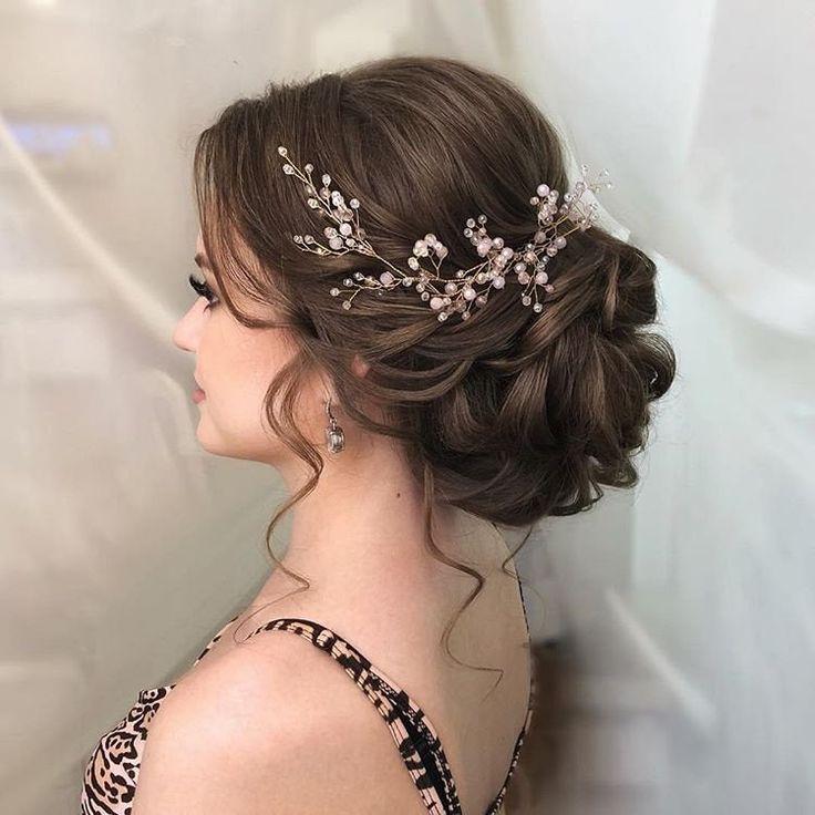 Wedding hair vine Extra Long Crystal and Pearl Hair Piece Flower headpiece Bridal Jewelry Crystal wreath Accessories for bride Headband Vine