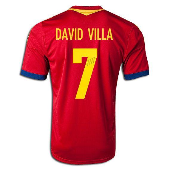 Youth Kids 2013/14 Spain David VIlla 7 Home Soccer by SOCCERAVENUE, $54.95