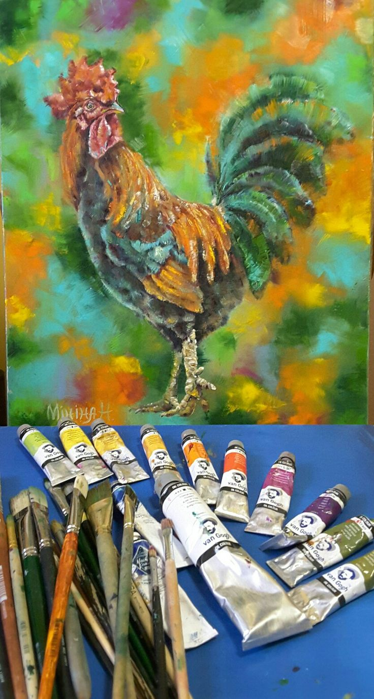 #rooster#realisticart #berd #oilpainting #color #painting #beautiful #gift#exclusiv#illustration #петух #живопись