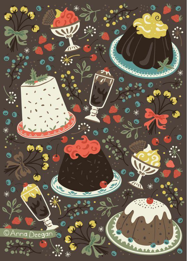 Sweet Deserts by Anna Deegan, via Behance