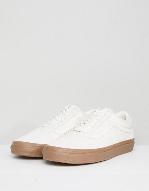 Vans Old Skool Trainers In White VA38G1QW3  e87632bcf