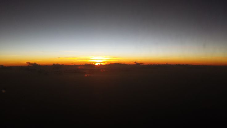 Somewhere over the Pacific and dawn is catching up with us