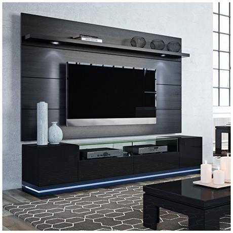 Vanderbilt TV Stand W/ Cabrini 2.2 TV Panel In Black | Designer | Pinterest  | Tv Panel, Tv Stands And TVs