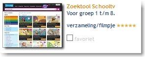 Zoektool Schooltv: voor groep 1 t/m 8.