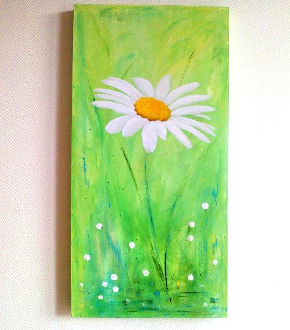 die besten 25 blumenmalerei leinwand ideen auf pinterest daisy malerei bilder zu malen und. Black Bedroom Furniture Sets. Home Design Ideas