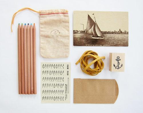 mustard string + linen bag.
