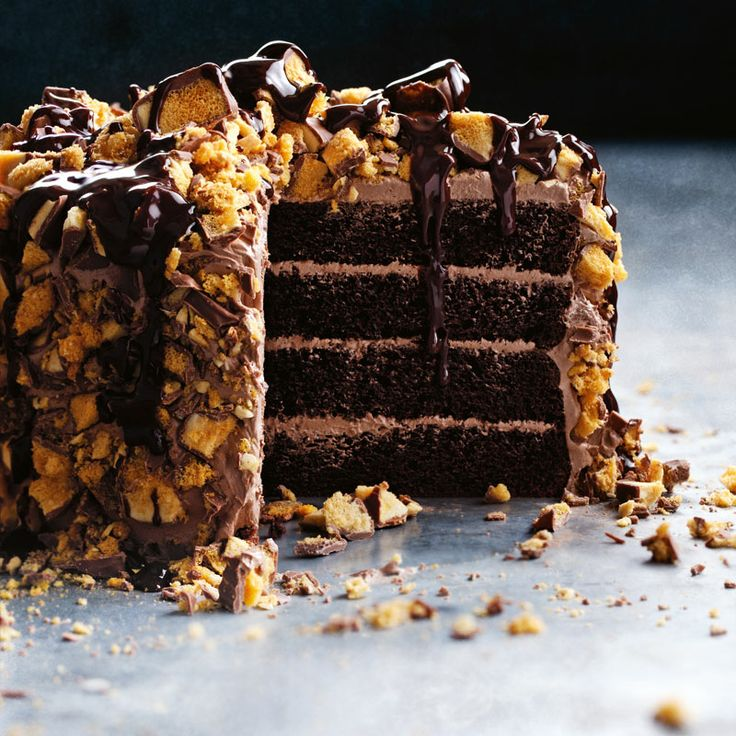 Easy Choc-Crunch Cake recipe.Whip up this chocolate cake to satisfy sweet tooth cravings this Easter. Recipe by Woolworths.