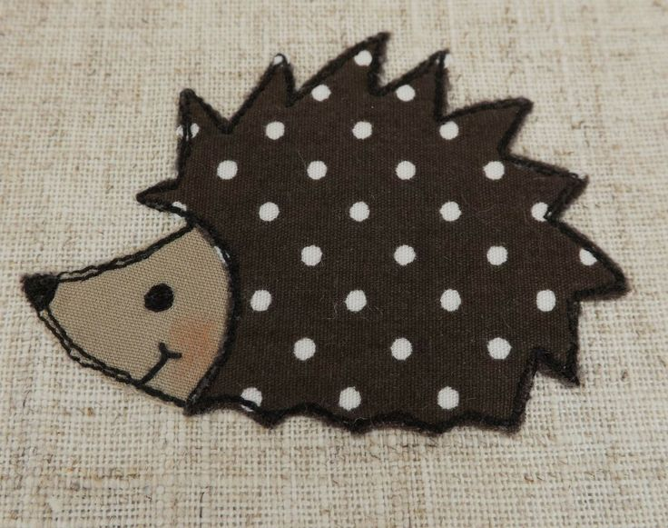 SewforSoul: Personalised Egg Cosy. Free Style Machine Embroidery Hedgehog Cozy. Raw Edge Applique.