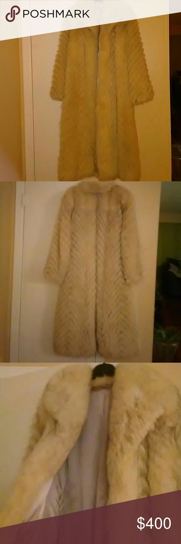 Vintage white/grey mink coat Genuine Fox fur! & Other Stories Jackets & Coats
