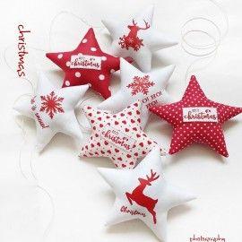 Christmas - gwiazdki do zawieszenia