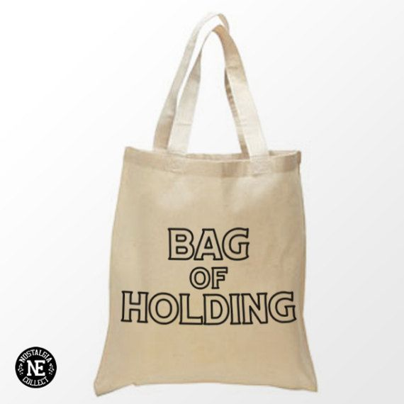 Bag of Holding Tote Bag  15X16 Inch Natural by Nostalgia Collect