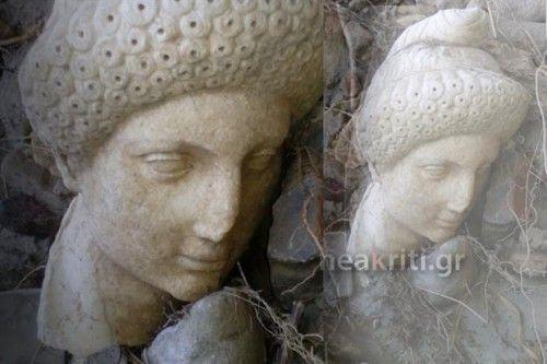 Μαρμάρινο γλυπτό εμφανίστηκε μέσα σε ρέμα μετά από τη βροχή στην Κρήτη - kavalarissa.eu