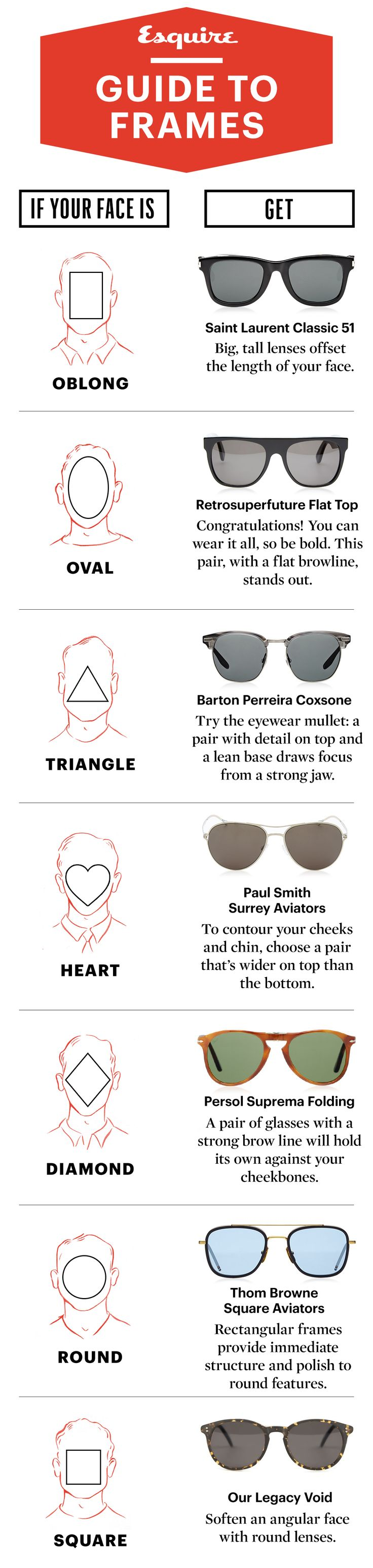How to pick the best sunglasses for your face.