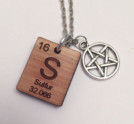Hey, I found this really awesome Etsy listing at https://www.etsy.com/listing/217653451/supernatural-periodic-sulfer-necklace