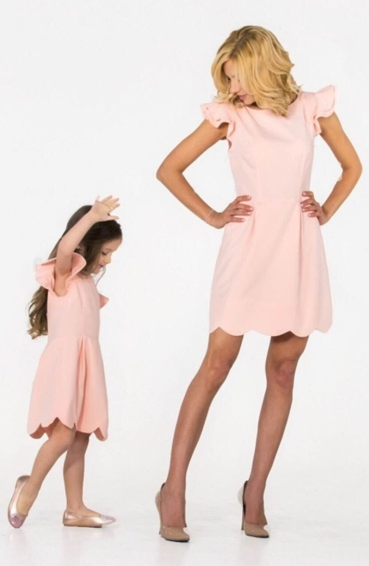 Peach - matching mother and me dresses, family outfits, mother and daughter dresses, child dress, girl dress, family look by dressionate on Etsy https://www.etsy.com/listing/386605074/peach-matching-mother-and-me-dresses