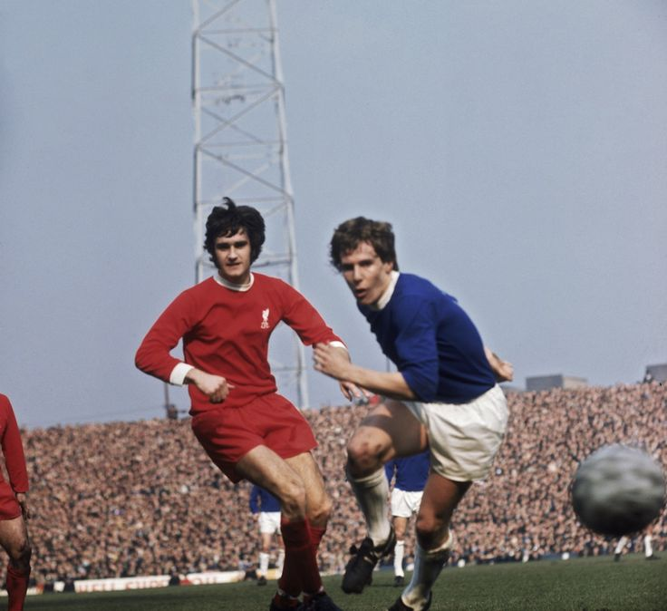 Liverpool v Everton, FA Cup semifinal at Old Trafford, 1971.