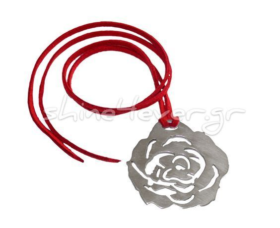 Pendant in the shape of a rose made of silver 925°. By Shine4ever.gr