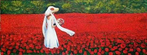 """""""Eterea emozione"""" Rosso passione, bianco candore e verdi speranze"""