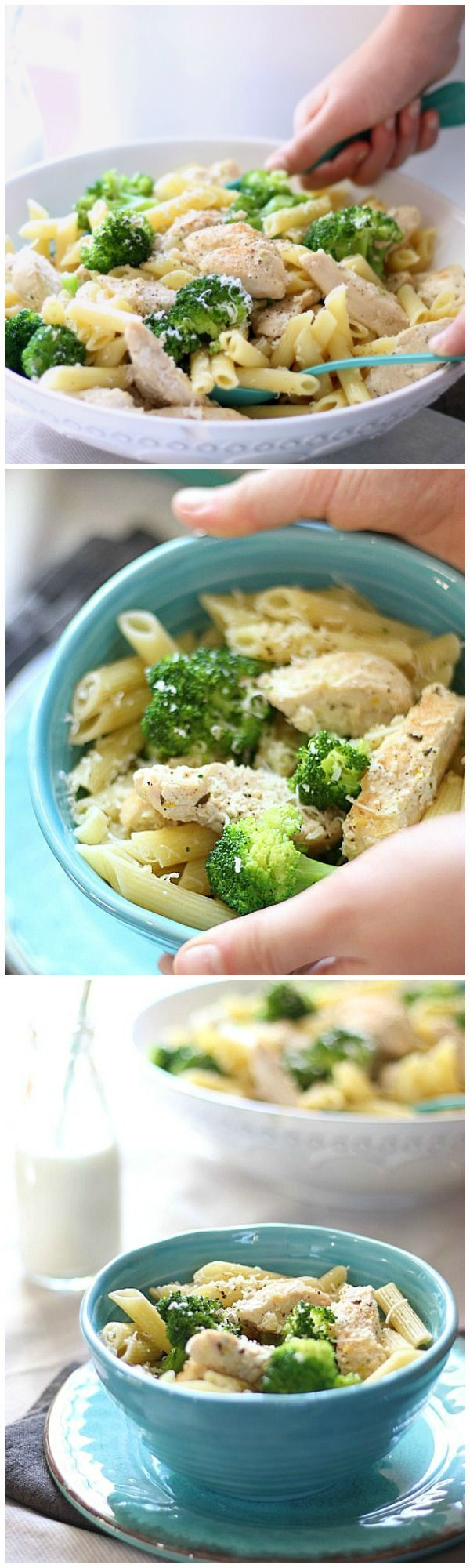 This classic Chicken Broccoli Pasta is the perfect recipe for a week night meal. In less than 30 minutes, you can cook and serve this nourishing meal, making this an excellent choice for those busy nights on the go! ribaswithlove.com