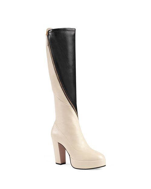 Gucci - Women s Agon Leather Tall Boots  adfc7221e4