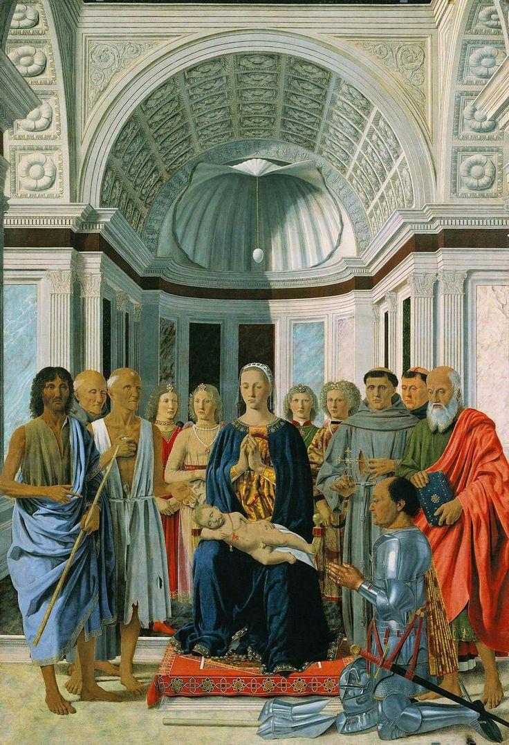 Pala di Brera, o Pala Montefeltro (Sacra Conversazione), Autore Piero della Francesca, Tecnica tempera e olio su tavola, Dimensioni 248×170, Ubicazione Milano, Pinacoteca di Brera