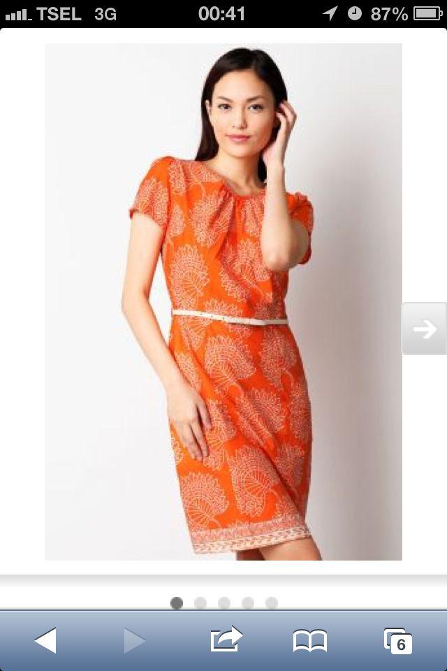 Red Batik dress for Casual