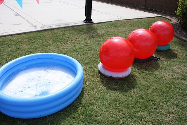The Red Balloon: Wipeout Party (And on a side note - these people have the best backyard ever!)