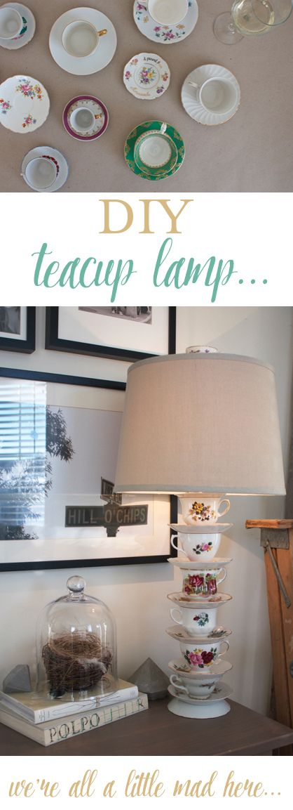 Make your own teacup lamp via FeatheringMyNest.ca (Diy Candles Teacup)