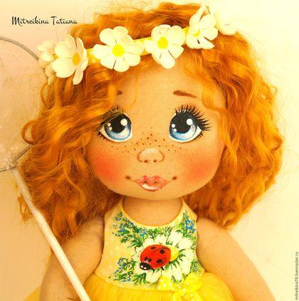 Купить или заказать Куколка в интернет-магазине на Ярмарке Мастеров. Тенкстильная куколка , рост 38см, сшита из тонированного натурального хлопка, ручки гнутся, одежда снимается. Личико и платье расписано акриловыми красками. Стоит самостоятельно.