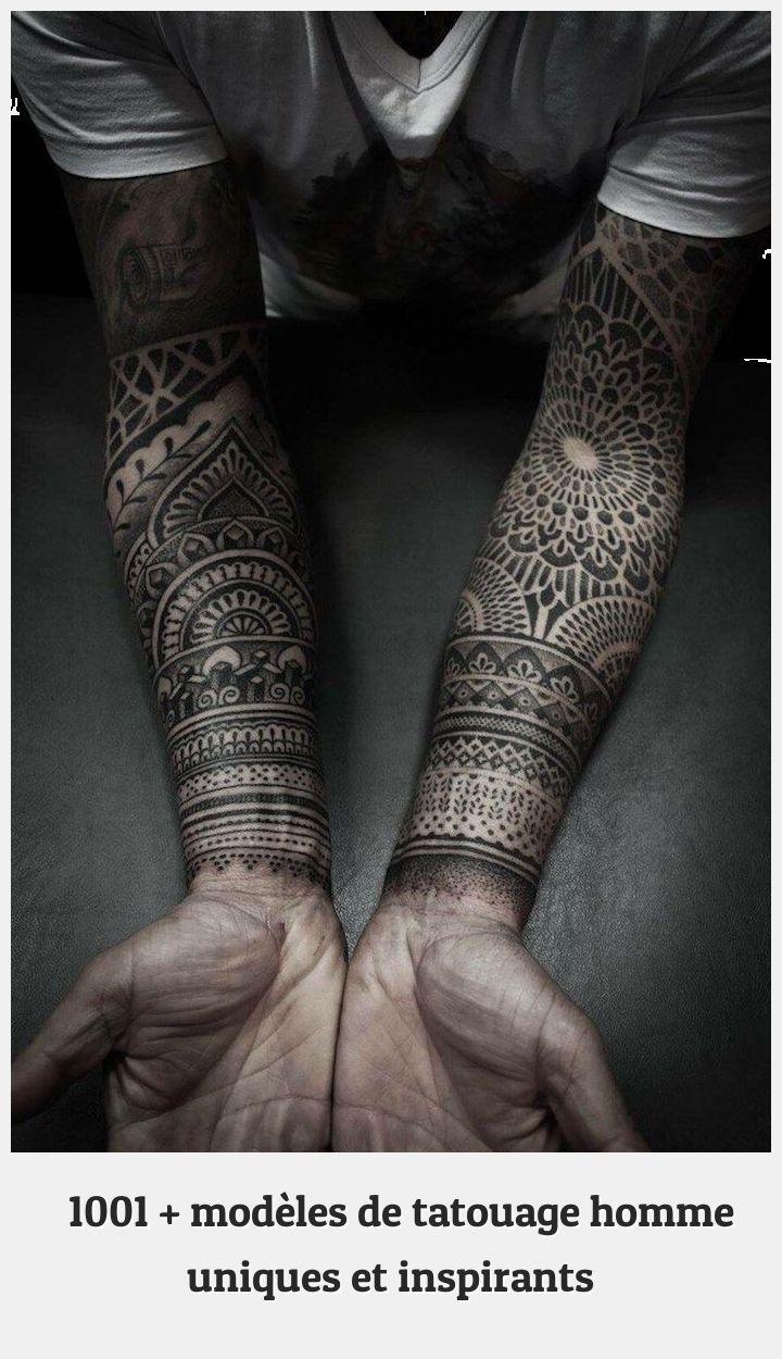 Arm Tattoo 74737 Tatouage Homme Motifs Tribal Inspiration Mandala T Shirt Blanc Et Noir Tatouage Avant In 2020 Black Heart Tattoos Geometric Sleeve Tattoo Tattoos