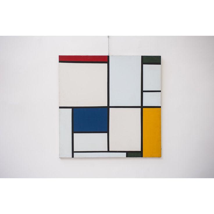 Quadro Omaggio a Mondrian designer Maurizio Rubino paese Italia colore fantasia in Acrilico su tela