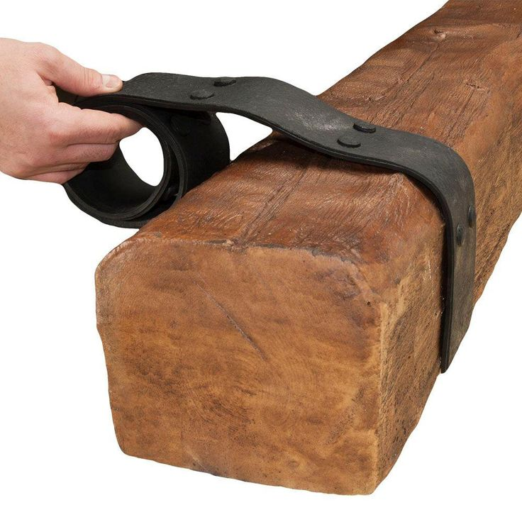 American Pro Decor 42 in. x 2-3/4 in. Double Rubber Strapping for Wood Faux Beam-5APD10015 - The Home Depot