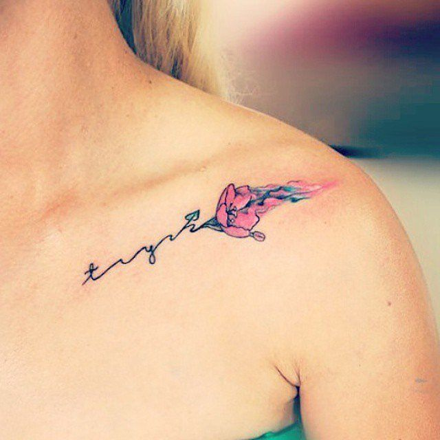Best 25+ Watercolor Tattoo Words Ideas On Pinterest