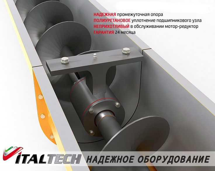 Screw conveyor for materials prone to lumping and caking DEMIX LM ITALTECH! http://www.italtech.biz/products/vintovye-konveyery-i-pitateli-demix-italtech/vintovye-konveyery-demix-ts-italtech-/?utm_source=social&utm_medium=post&utm_campaign=regular_posting_eng  Features: ✅ Conveyor grooved type; ✅ quick access to the working screw of the auger for its maintenance in case of stones or other inclusions that can jam the auger; ✅ diameters of 114, 159, 219 and 273 mm; ✅ length from 1 to 12 meters…