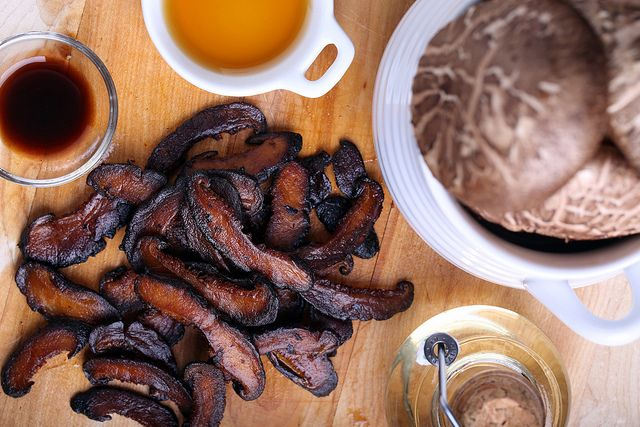 Next time someone says they can't go vegan because they'd miss bacon, make them this Shiitake Bacon and watch their jaw drop.