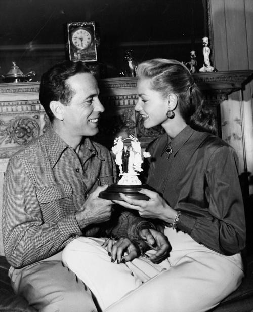 Newlyweds Humphrey Bogart & Lauren Bacall, 1945